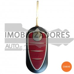 CHAVE ALFA ROMEO - 3 BOTÕES - 433MHZ PCF7946 ID46 SIP22 - 002